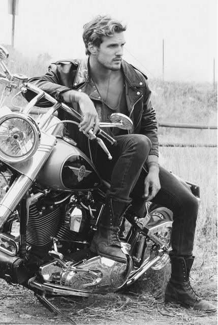 hot guy with motorcycle | In Stefter's Humble Opinion