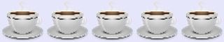 five coffee cups