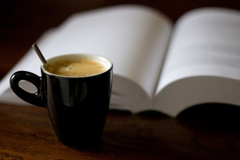 book & coffee