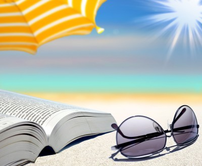 Beach, sun, book