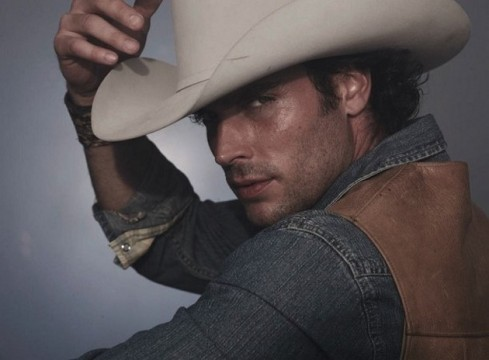 Oh hello sexy cowboy!!!  He does wear the hat well.