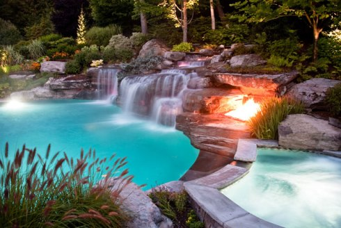 Beautiful backyard getaway.