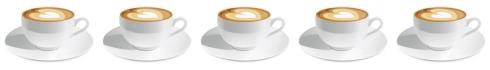 five cappuccino