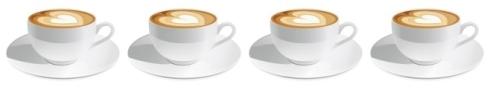 four cappuccinos