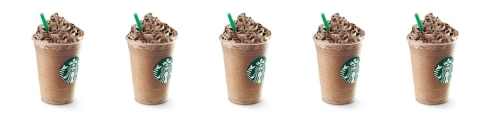 Five Mocha cookie crumble frappuccino